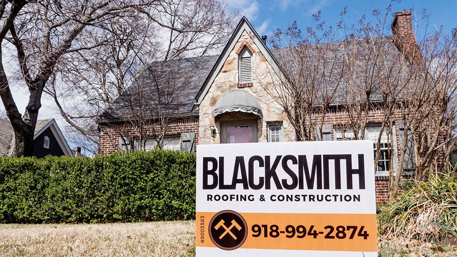 Roof Repair and installation. Blacksmith Roofing and Construction in Broken Arrow.